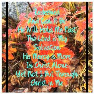 List of songs we will sing during Sunday service on October 6th, 2019  over an Alaskan themed background image.